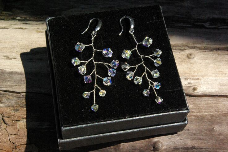 Excited to share the latest addition to my #etsy shop:  https://etsy.me/2I7aXuw #jewelry #earrings #clear #earwireearrings #wedding #weddingeaqrrings #bridalearrings #swarovskiearrings #swarovskijewelry #crystalearrings #fasionearrings #bridetobe #auroracrystalpassion