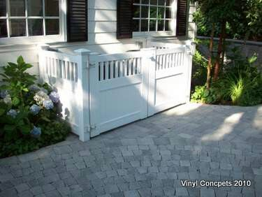 Garbage can enclosures - would like to do this when we redo the backyard, but maybe covered so raccoon's have a much more hard time messing up the trash...
