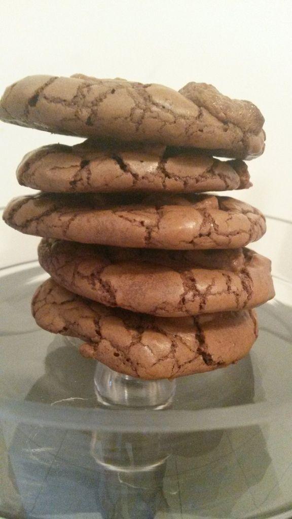 Outrageous cookies...  des cookies-brownie, mais ils sont...