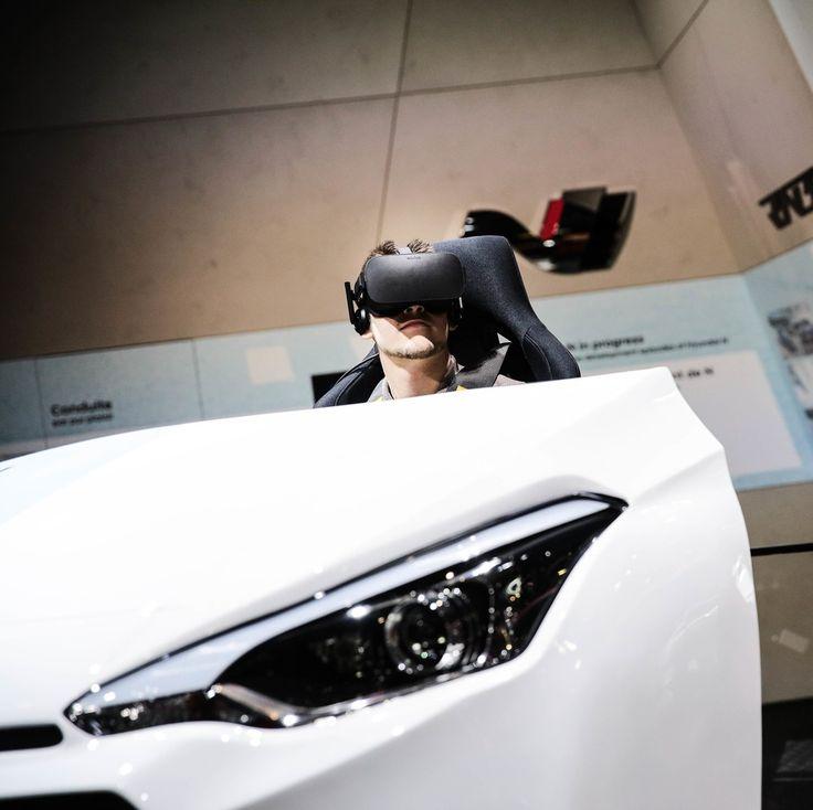 Animation HYUNDAI qui vous permet de conduire une I20. Crédits photo : Bitton #MondialAuto #automobile #automotive #cars #voiture #ParisMotorShow #hyundai #i20 #realité virtuelle #simulateur #animation #instacars #carsofinstagram