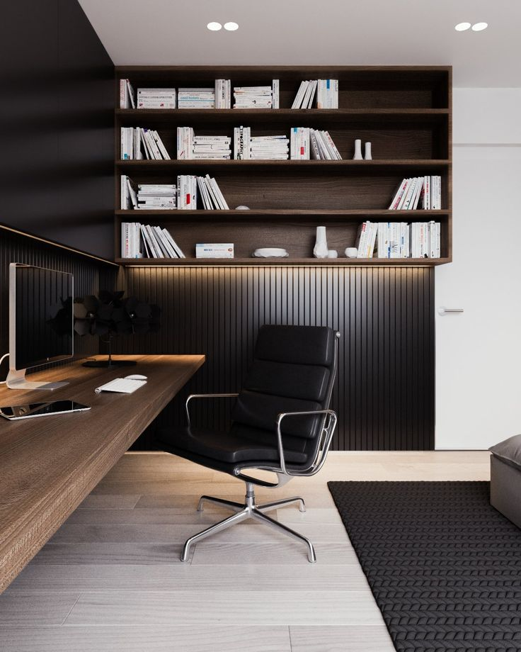 black-wainscoting-in-office.jpg (1200×1500)