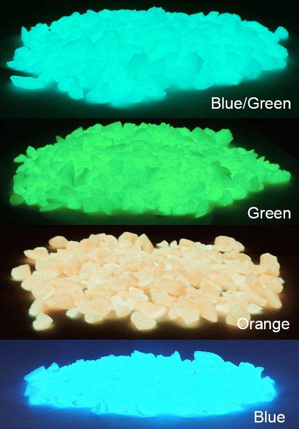 Glow in The Dark Fish Tank Rubble 4oz Glow Pebbles Aquarium Gravel $6.99
