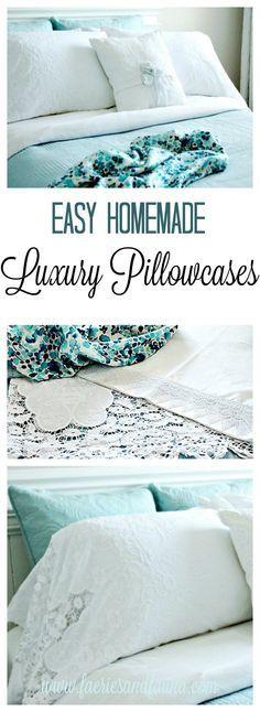 DIY Luxury Linen Inspired Pillowcases