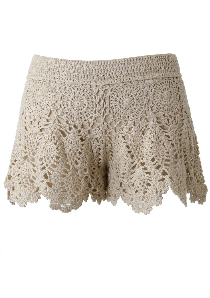 #Chicwish Handknit Crochet Skirt Shorts - Pants - Bottoms - Retro, Indie and Unique Fashion