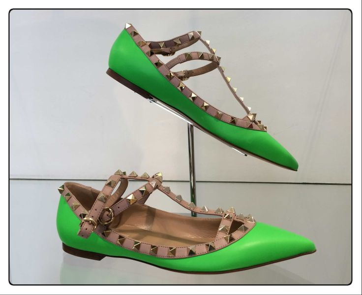 Valentino  #shoes #fluo #stud #SpringSummer #FolliFollie #collection