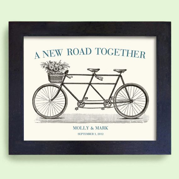 Unique Wedding Gift - Unique Engagement Gift - Wedding Decor - Gift for Couples - Bicycle for Two - Bridal Shower on Etsy, $22.00