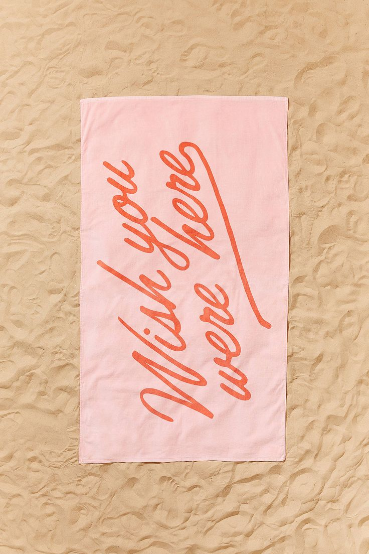 Shop ban.do Wish You Were Here Oversized Beach Towel at Urban Outfitters today. We carry all the latest styles, colors and brands for you to choose from right here.