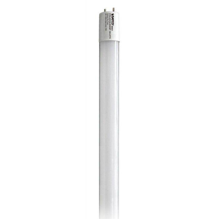 Satco 9W T8 LED - Medium Bi-Pin Base - 3500K - 1100 LM (Frosted), White (Glass)