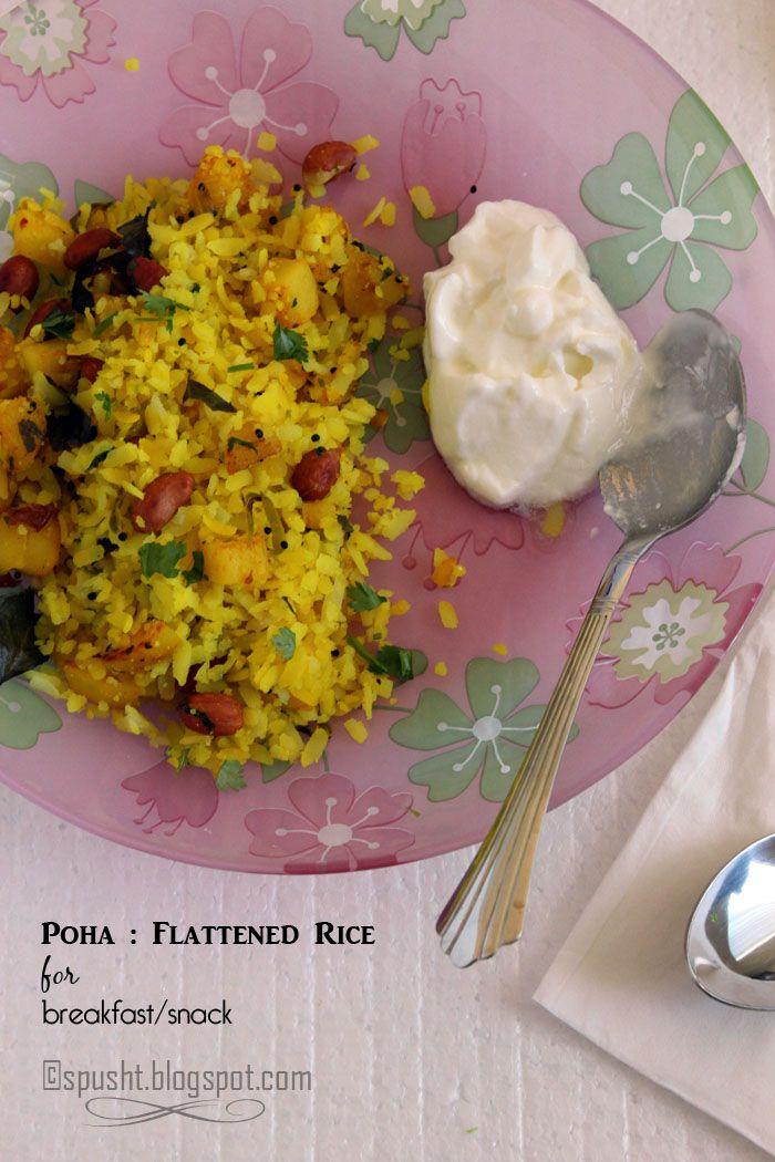 Spusht | Poha : Flattened Beaten Rice Recipe