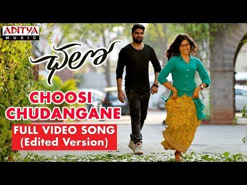 Choosi Chudangane Full Video Song Edited Version Chalo Movie