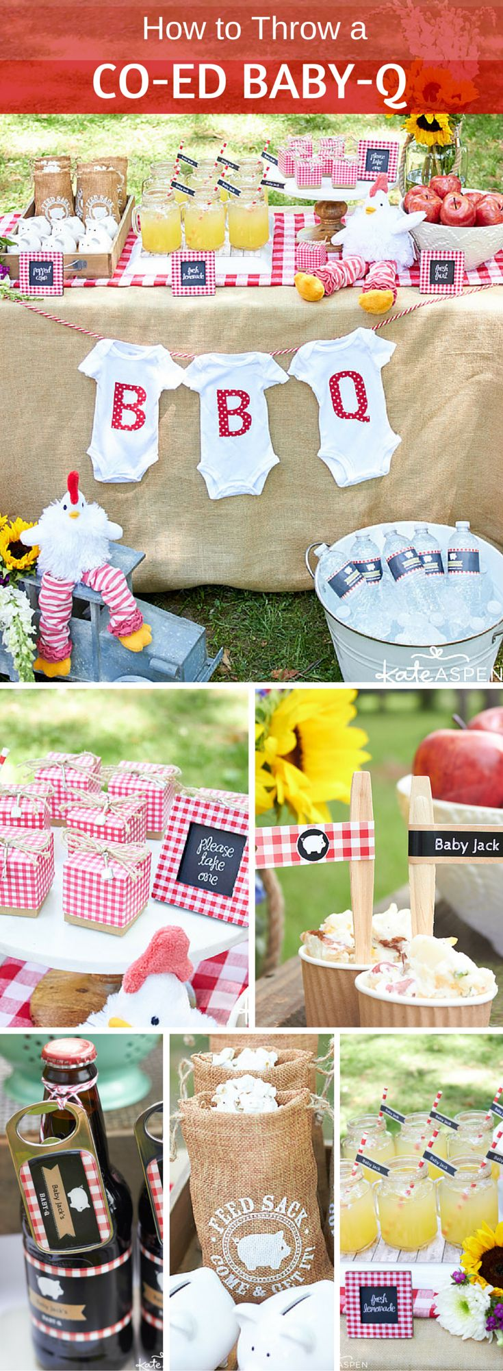 Gender neutral baby shower ideas - A Baby Q Is An Adorable Gender Neutral Baby Shower Theme And It S