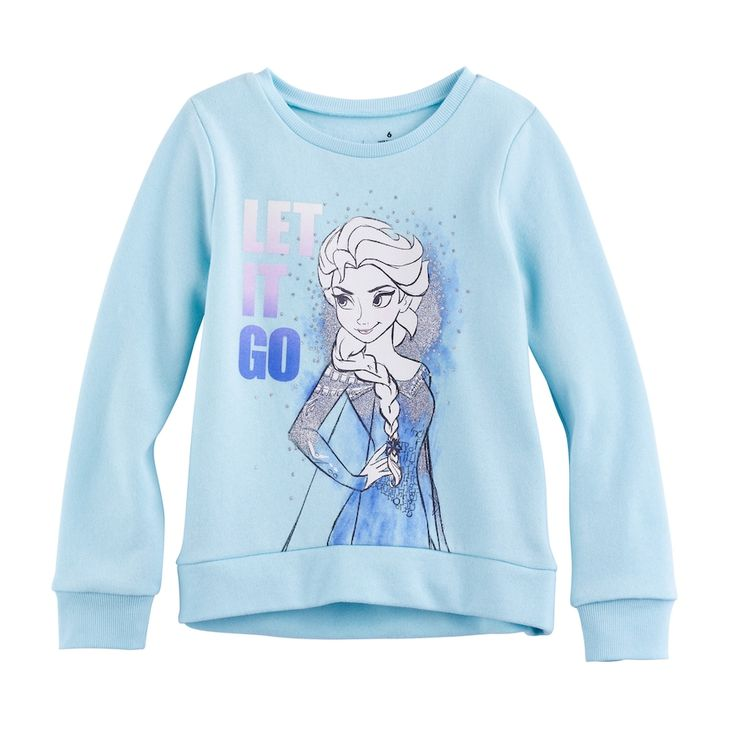 """Disney's Frozen Girls 4-10 Elsa """"Let It Go"""" High-Low Fleece Pullover by Jumping Beans®, Size: 6, Turquoise/Blue (Turq/Aqua)"""