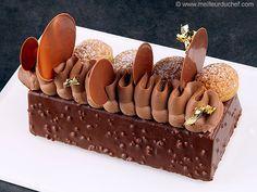 Bûche Saint Honoré brownie                                                                                                                                                                                 Plus
