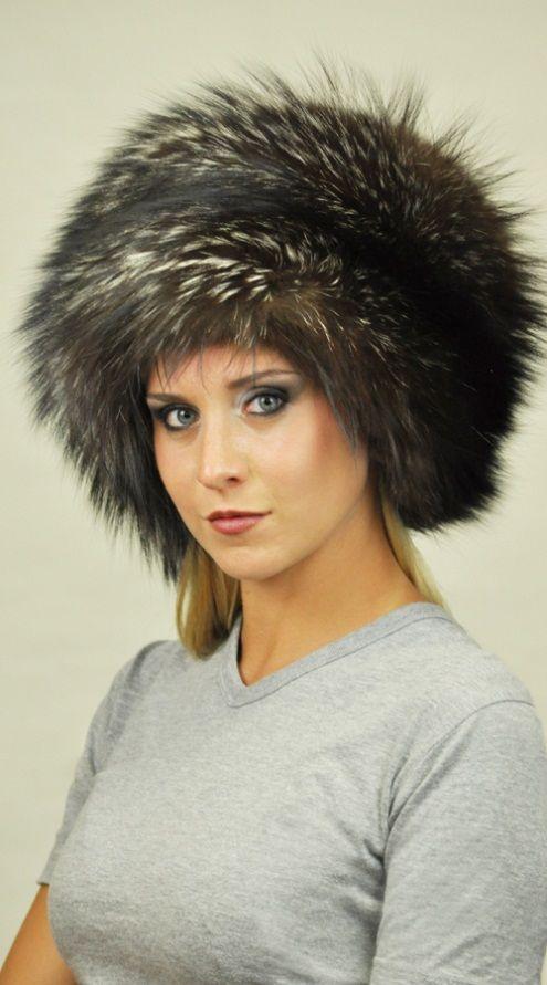 Autentico cappello in volpe argentata naturale    www.amifur.it