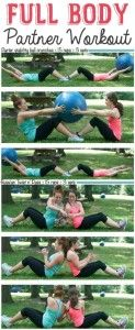 #3. Enlist a friend! These fun partner workout ideas are sure to make you laugh. So much fun!