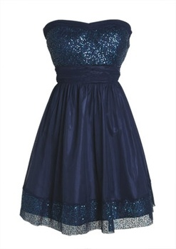 Sequin Trim Dress in Dresses from Delias
