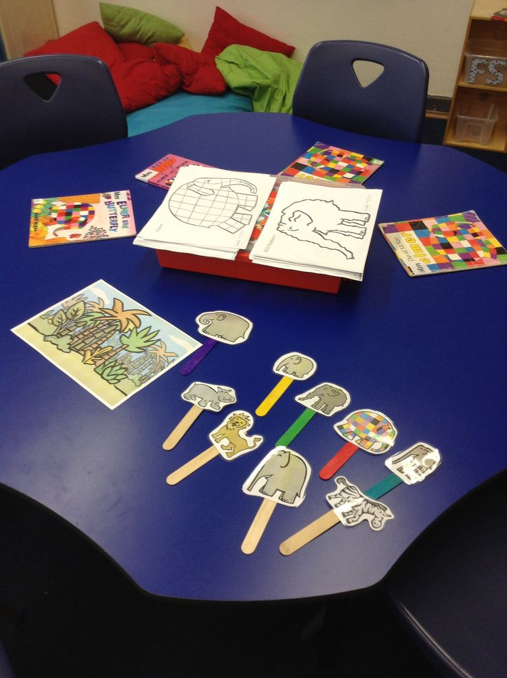 Elmer Elephant activities for the school library
