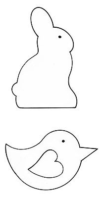Sew Easter chicks and Easter bunnies :: Free sewing patterns :: Easter craft ideas :: allaboutyou.com