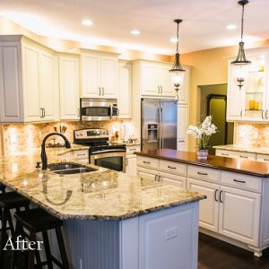 Lower your breakfast bar - the result is stunning! New blog post from KBF Design Gallery.