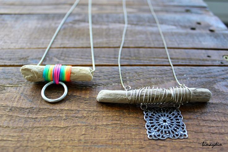 diy , driftwood , necklace , kolye