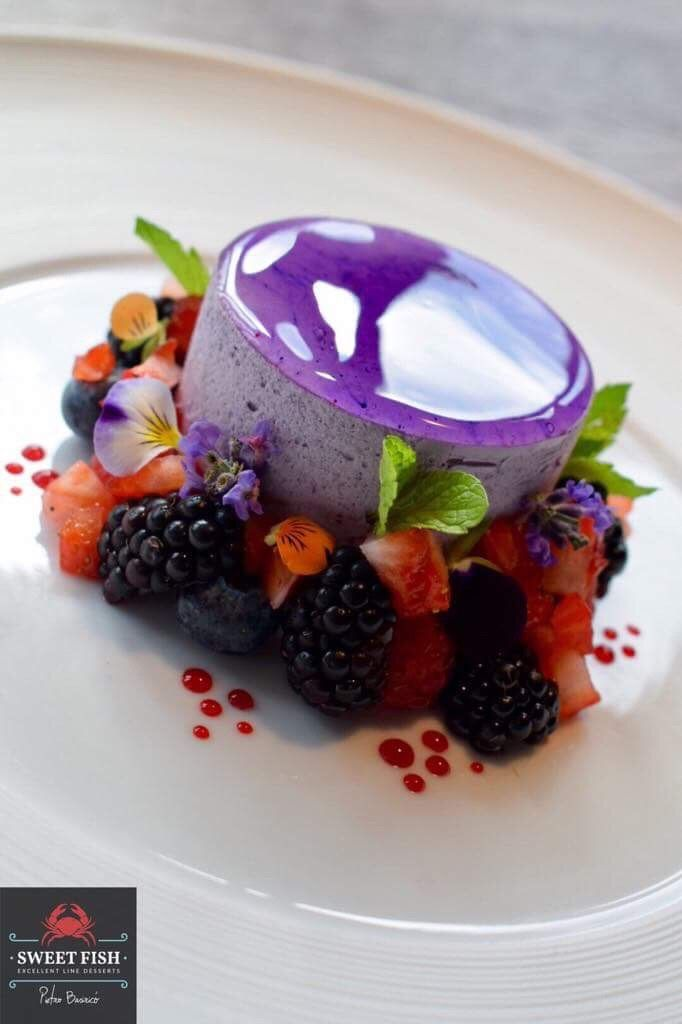 Blueberry mousse and berries By Chef Pietro Basirico