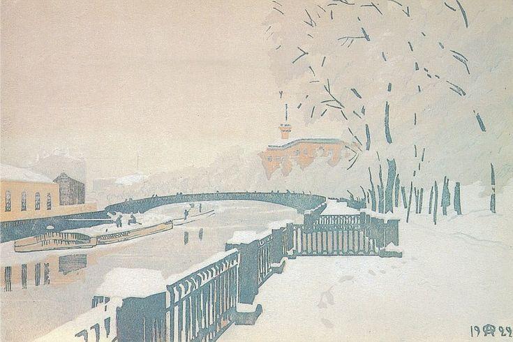 Leningrad. Summer garden in winter. - Anna Ostroumova-Lebedeva