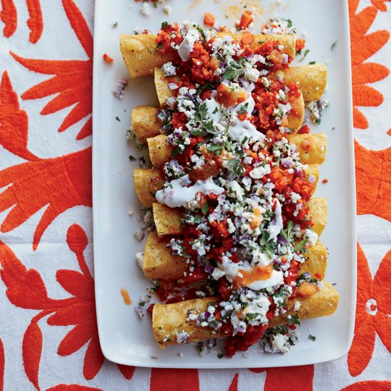 No-Bake Vegetarian Enchiladas // More Fabulous Vegetarian Recipes: http://www.foodandwine.com/assets/images/201305-r-no-bake-vegetarian-enchiladas.jpg/variations/HD.jpg #foodandwine