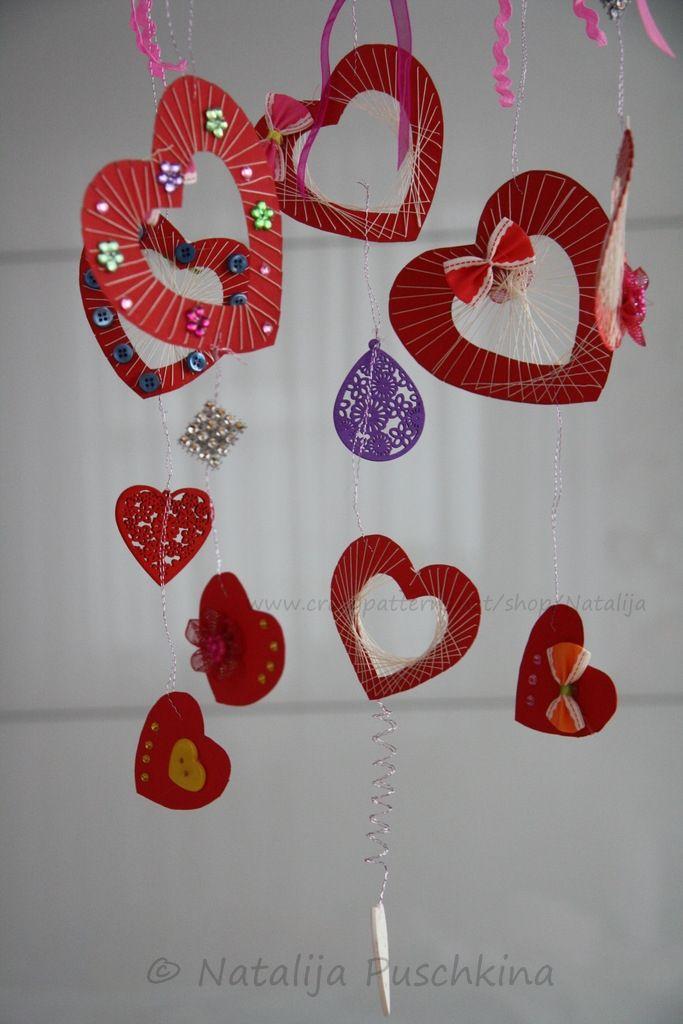 Dann Ist Das Genau Das Richtige Für Dich   Herzmobile   Anleitung Zum  Selbermachen   Kuschelige Dekoration Für Valentinstag   Kostenlos    Geeignet ...