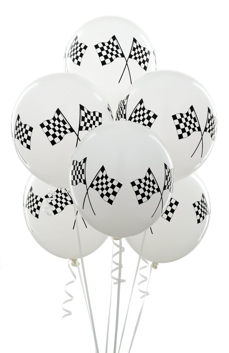 What's a party without balloons? Continue with your race inspired theme with these balloons from Birthday Express!