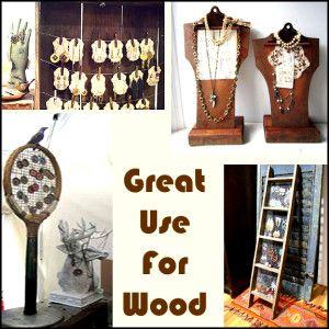 display of wood