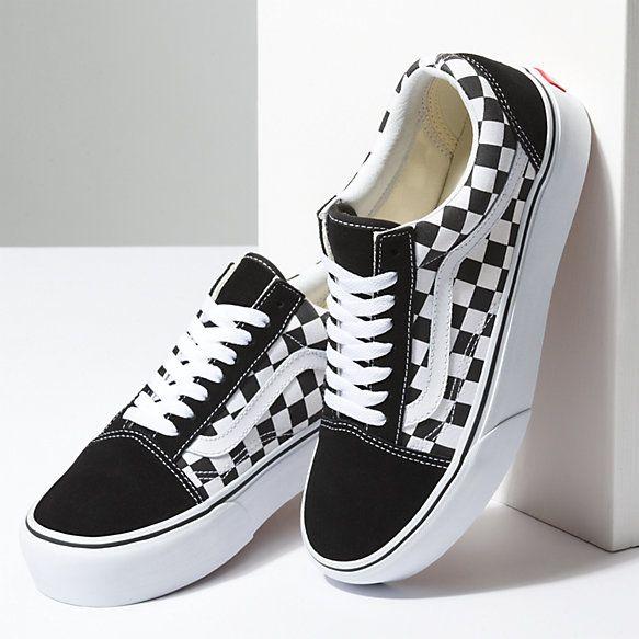 vans chaussures checkerboard old skool platform