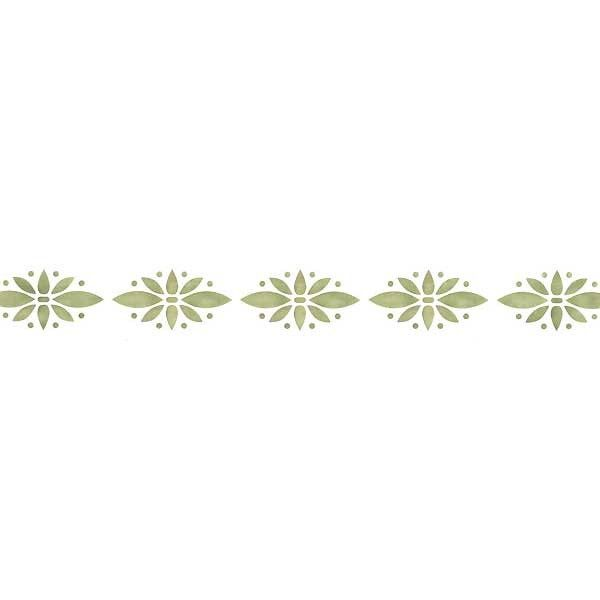 Simple floral wall stencil border - Border stencils for painting ...