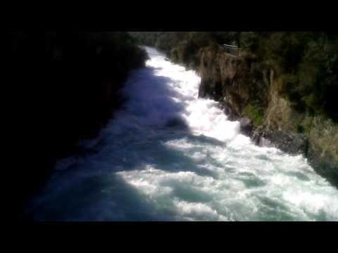 Huka Falls from the Bridge (top) - YouTube