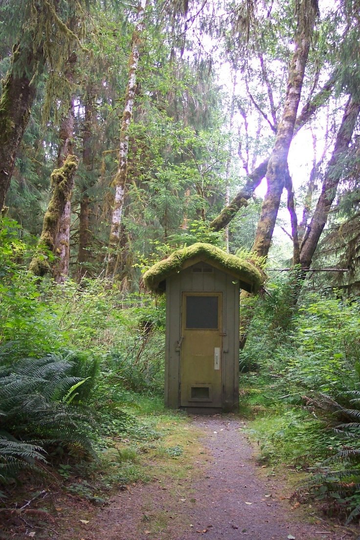 Outhouse - Olympic National Park, WA.