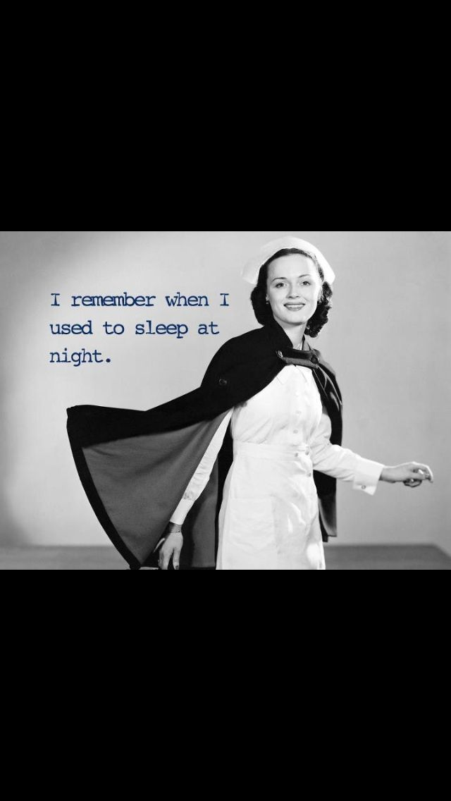 #Night shift nursing problems- Been so long I can barely remember !!