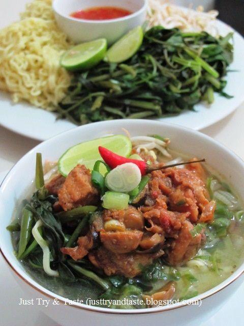 Just Try & Taste: Mie Kangkung: Mie Kuah yang Segar & Sehat