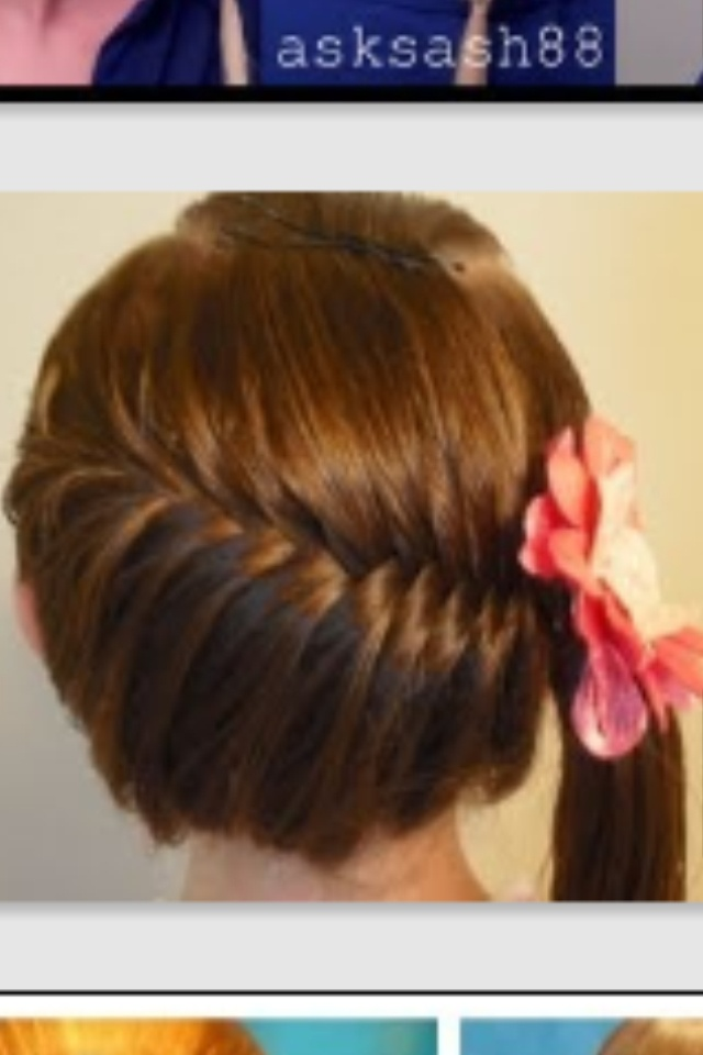 Side swept French fishtail ponytail  YouTube.com hair4myprincess