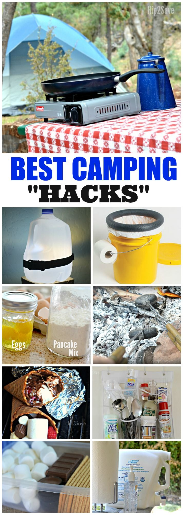 10 Camping Hacks & Tips (DIY Outdoor Toilet, Campfire Cones + More)