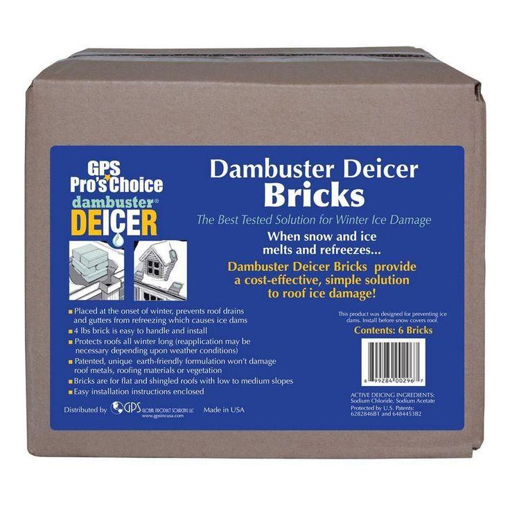 Dambuster Roof Deicer Ice Melt Bricks (6 Pack)