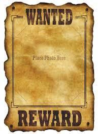 Bildresultat för wanted poster template
