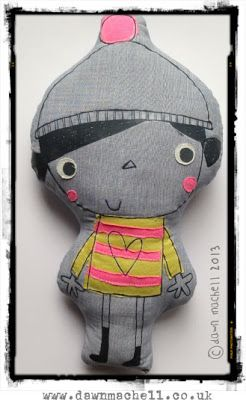 I love this Madam Floss softie by Dawn Machell. pop-i-cok blog.