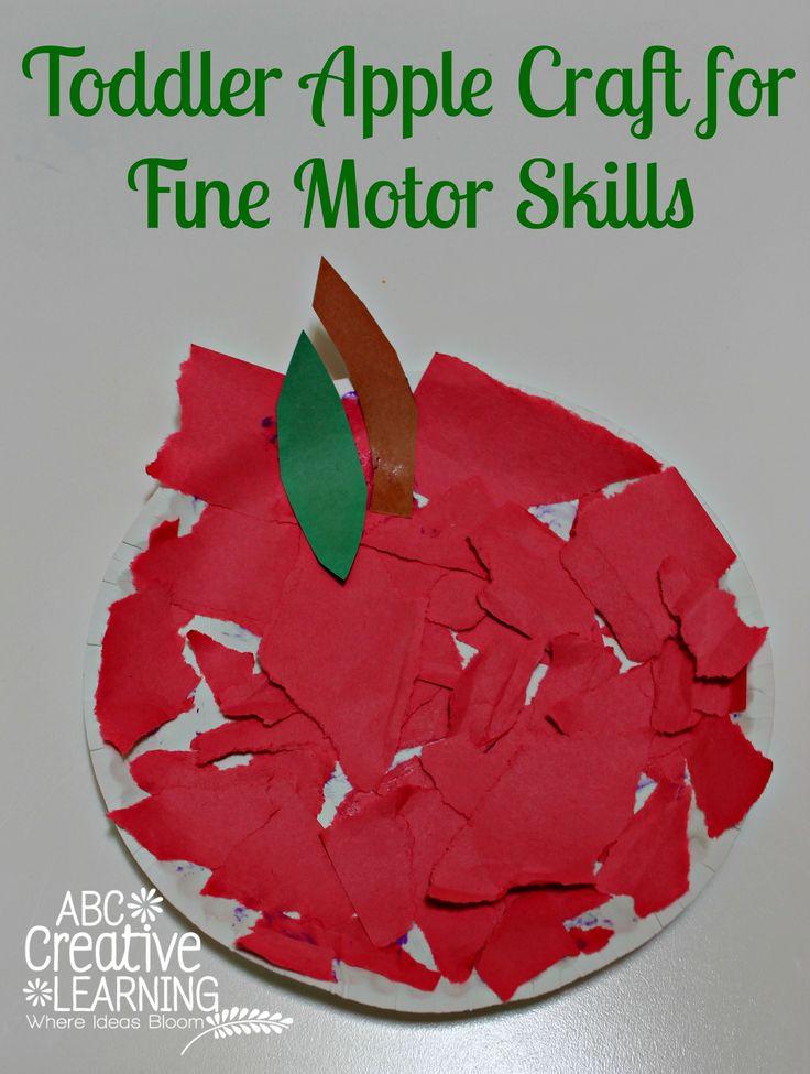 Toddler Apple Craft for Fine Motor Skills