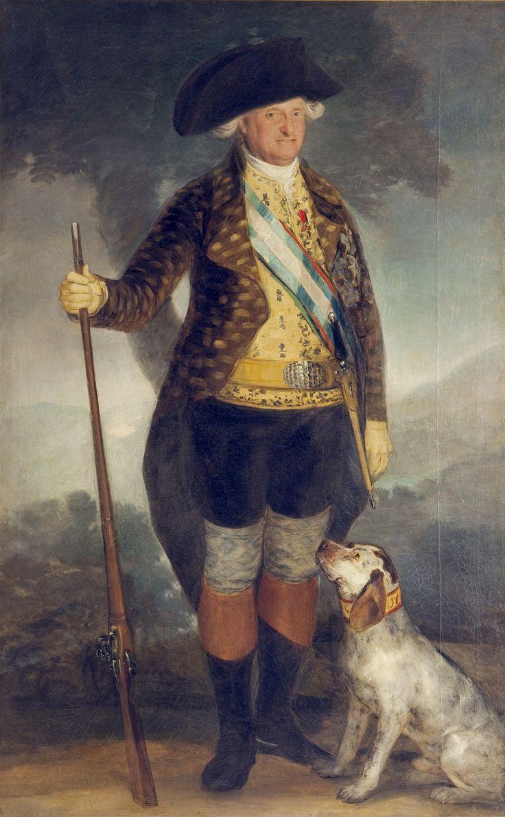 Retrato de Carlos IV como cazador en la cumbre de su poder. Francisco de Goya. | Patrimonio Nacional