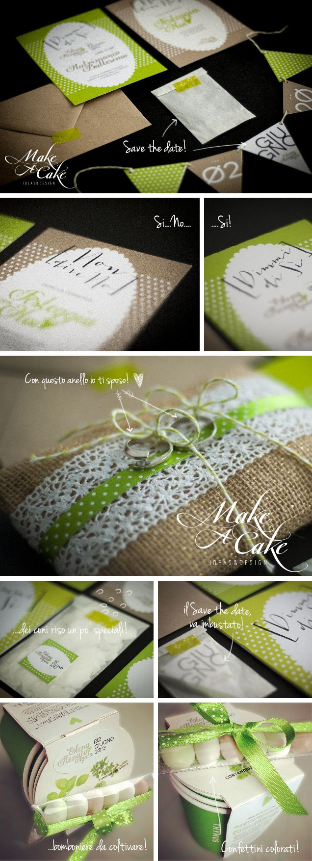picnic wedding green avana savethedate ideas favor stationery inspiration weddingideas you can find it at www.makeacake.it