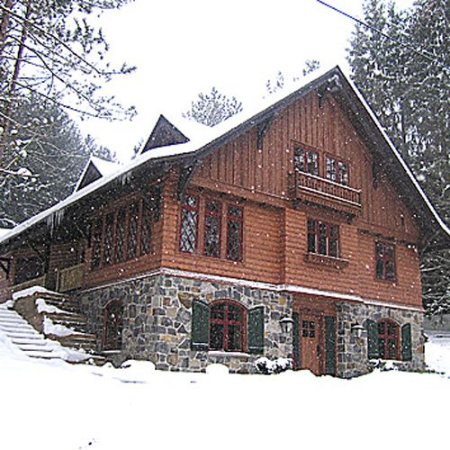 German chalet home plans modern architecture villa for Swiss chalet house plans