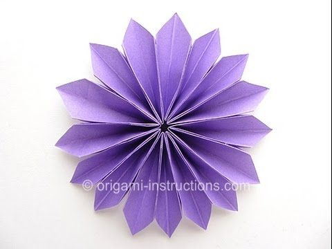 The 270 best origami flowers images on pinterest origami flowers easy origami yamaguchi dahlia folding instructions so easy and so pretty mightylinksfo