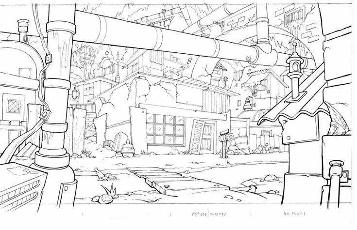 Art of Starnes: Animation Background Layout (Line)
