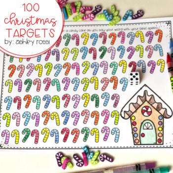 Snowmen, Candy Canes, and Santas! Have you grabbed the Target erasers? This coordinates perfectly! Color or cover an image each time you say your target word correctly in Speech Therapy! This open-ended activity is perfect for getting 100 trials and is great for