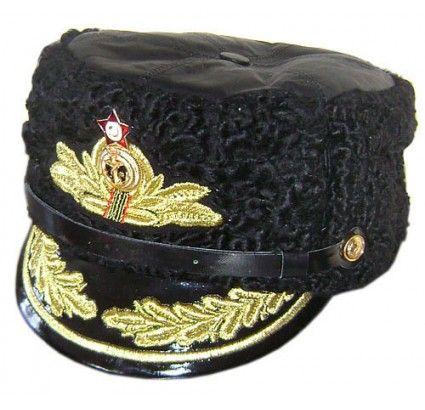 Admiral cap. Russian soviet navy. Astrakhan fur
