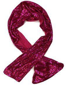 Remington Womens Sequin Solid Color Hair or Neck Combo Scarf